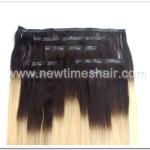 Extension des cheveux à pince deux tons de couleur