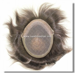 HS8-03 French-Lace-Base-with-PU-Coating-on-Sides-and-Back-Toupee-1