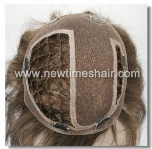 LW3013 Human Hair Toupee For Women Easy Wear Integration with Clips (5)