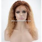 Perruque blonde avec racine brune foncée pour femmes