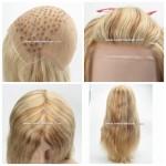 LW6138, Full lace wig blonde et brune pour femmes