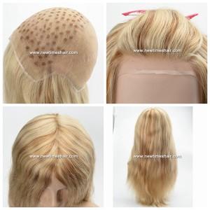 LW6138, 01Full lace wig blonde et brun pour femmes