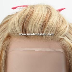 LW6138, 04 Full lace wig blonde et brun pour femmes