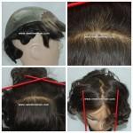 LF002 Lace Front avec Skin Injecte pour hommes