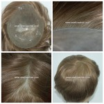LJC297 Cheveux naturels injectés dans la Micro Peau postiche hommes