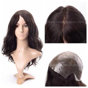 LL648 01 Wig cheveux humains base en silicone pour femmes