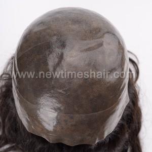 LL648 02 Wig cheveux humains base en silicone pour femmes