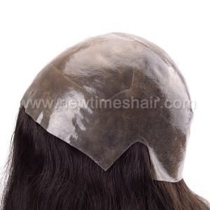 LL648 03 Wig cheveux humains base en silicone pour femmes