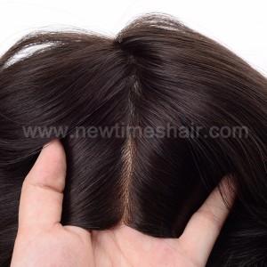 LL648 04 Wig cheveux humains base en silicone pour femmes