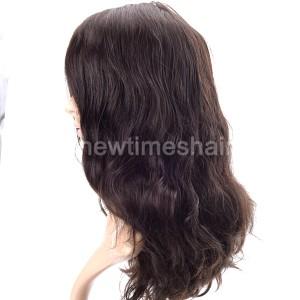 LL648 07 Wig cheveux humains base en silicone pour femmes