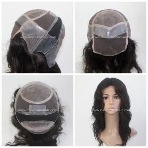 LW1089 Perruques ou 01 Wig en Micro Peau Silicone pour femmes
