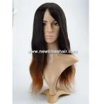 LW5781 Wig avec bonnet en soie couleur Ombre pour femmes