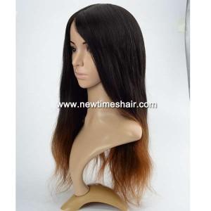 LW5781 04 Wig avec bonnet en soie couleur Ombre pour femmes