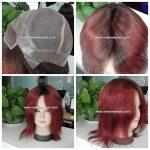 LW6991 cheveux Virgin rouge vin pour femmes