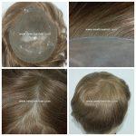 LJC297 Cheveux naturels injectes dans la Micro Peau postiche hommes