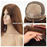 Medical wig avec top en soie