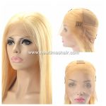 Full Lace en cheveux blond en stock